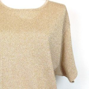 Saks Fifth Avenue The Works Sweaters - The Works  Salsa Fifth Avenue gold top size L